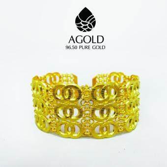 AGOLD ST27 กำไลข้อมือแฟชั่น ทองแท้ 96.50% น้ำหนัก 2 บาท