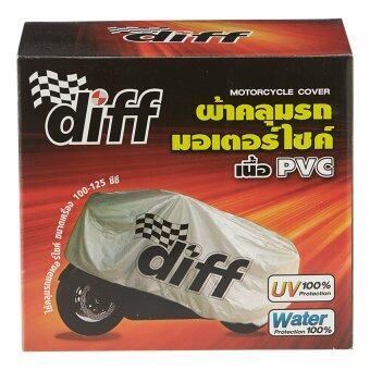 DIFFผ้าคลุมรถมอเตอร์ไชด์ พีวีซีลายดิฟPAQ28335