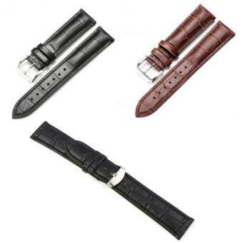 เพศชายหญิงคุณภาพสูงหนังเข็มขัดรัดสายนาฬิกาสเตนเลส 12มม
