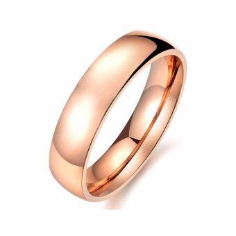 TANITTgemsแหวนเกลี้ยงนากขัดเงาดีไซน์เรียบหรู