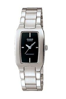 Casio Standard นาฬิกาข้อมือผู้หญิง สายสแตนเลส รุ่น LTP-1165A - สีเงิน/ดำ