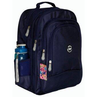 Wheal กระเป๋าเป้สะพายหลัง กระเป๋าเป้นักเรียน กระเป๋าสะพายหลังเด็ก 16 นิ้ว รุ่น W06616 (Navy Blue)