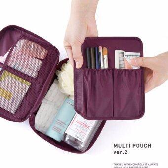 All About Traveler's กระเป๋าจัดเครื่องสำอาง ระเบียบ สีม่วง