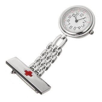 แพทย์พยาบาลสเตนเลสเข็มกลัดเสื้อกางเกงกระเป๋าข้ามนาฬิกาควอทซ์