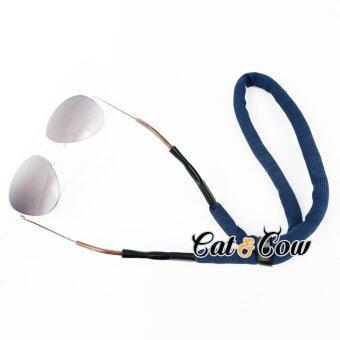 Cat & Cow รุ่น FC46-DB, #สายคล้องแว่นตา Eyewear Retainer สีน้ำเงิน