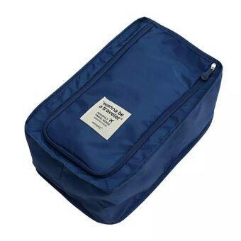 BeckyCat กระเป๋าใส่รองเท้า มีแผ่นจัดระเบียบด้านใน สีน้ำเงิน (Indigo Navy)