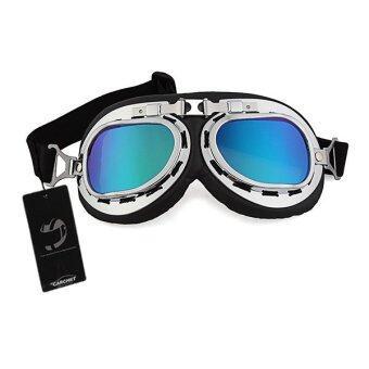 WiseBuy วินเทจสไตล์นักบินนักบินสวมหมวกแว่นตาแว่นตาสีรถจักรยานยนต์มอเตอร์