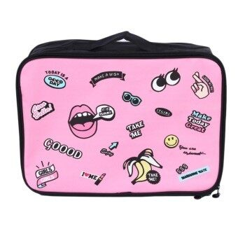 Harga GOOD Cartoon Lovely Outdoor Travel Clothes Storage Bag Airplanes Boarding Bag pink - intl