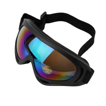 โอ้ใหม่รถจักรยานยนต์สวมแว่นตาสายตาแว่นตาแว่นตาสกีแข่ง (สีดำ)