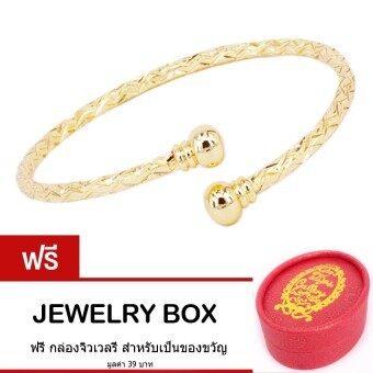 Tips Gallery กำไล ข้อมือ สแตนเลส 316L ลายเกลียว หุ้ม ทองคำ แท้ 24K รุ่น Le Lacet Love Rope Golden Bracelet Design TBS095 ฟรี กล่องจิวเวลรี
