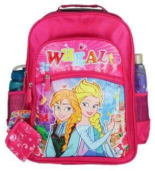 Wheal กระเป๋าเป้สำหรับเด็ก เป้สะพายหลัง กระเป๋านักเรียน 16 นิ้ว รุ่น Princess 86016 (Pink)