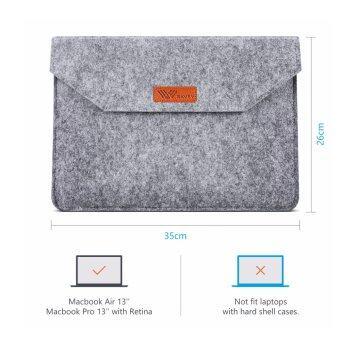 SAVFY ถุงสำหรับโน้ตบุ๊ค MacBook Pro/Macbook อากาศ Retina13.3 นิ้ว iPad macbook อากาศกรณี /macbook Pro 12.9 นิ้วแขน (สีเทา)