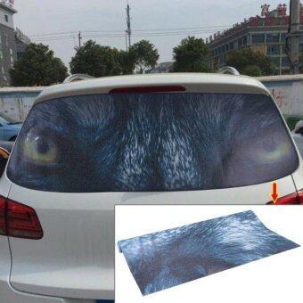 Garland Design Car Sticker Decal Waterproof Backup Window Owl Eye Styling 3D Emblem External Side Personalized Car Wall House Decoration Size: 130cm X 70cm ...