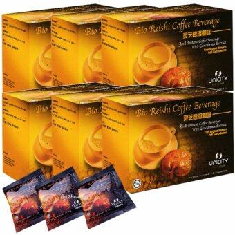 Unicity Bio Reishi Coffee Beverage ยูนิซิตี้ ไบโอรีชี่ กาแฟปรุงสำเร็จ ผสมเห็ดหลินจือ ควบคุมไขมันและความดัน บำรุงสุขภาพ ขนาด 20 ซอง (6 กล่อง)