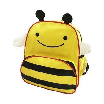TravelGear24 กระเป๋าผึ้ง กระเป๋าเป้ เป้เด็ก กระเป๋าหนังสือ กระเป๋าเด็ก กระเป๋าสะพาย สำหรับเด็ก School Children Backpack Bag Rucksack BEE - สีเหลือง/Yellow