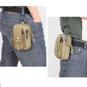 Easydeal กระเป๋าเสริมผู้ชาย ห้อยหูกางเกงหรือเข็มขัด (น้ำตาล) (image 0)