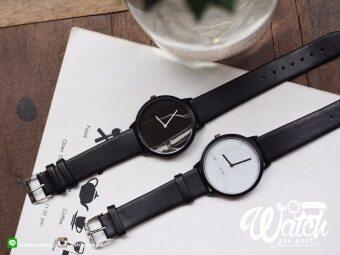 นาฬิกาคู่ Comely ลายหินอ่อน รุ่น Marblely หน้าปัด สีดำและสีขาว (แพคเกจ 2 เรือน)