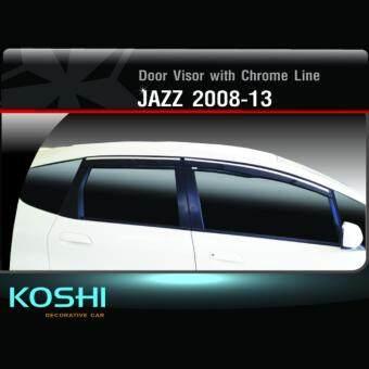 Koshi กันสาดคิ้วโครเมี่ยม Honda Jazz 2008-13 (4ชิ้น)