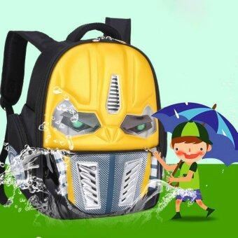 Harga Cool Cool Comfortable personality robot children's school bags backpack(Yellow) - intl