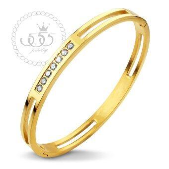 555jewelry 316L Bangle กำไล รุ่น MNC-BG200-B สี Yellow Gold