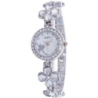 MEGA Lady Jewelry Luxury Fashion Bracelet Watch นาฬิกาข้อมือผู้หญิง สายสแตนเลส Kimio Style รุ่น K456 (Transparent)
