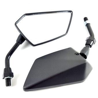 HMA กระจกมองข้าง ย่อทรง NINJA HONDA สำหรับรถจักรยานยนต์ หรือ มอเตอร์ไซค์ สีดำ ขาดำ