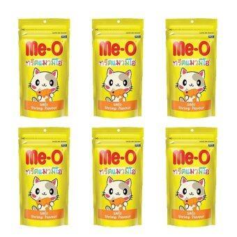 Me-o ขนมแมว รสกุ้ง 50 กรัม จำนวน 6 ซอง