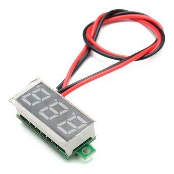 HKS 0.28 Inch 2.5V-30V Mini Digital Voltmeter Voltage Tester Meter DC 2.5V ~ 30V Yellow - intl