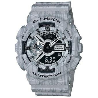 Casio G-Shock นาฬิกาข้อมือผู้ชาย สีเทา สายเรซิน รุ่น GA-110SL-8A