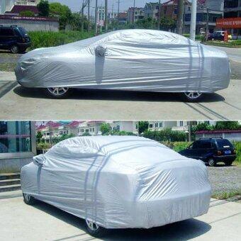 ความครอบคลุมการป้องกันรถอเนกประสงค์กันฝุ่นร่มกันยูวีลายขวางรถเก๋ง L