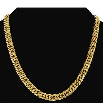 หนัก 24กิโลไบต์คนสีเหลืองทองใส่สร้อยคอโซ่รั้งศีรษะของฟิกาโรลิงก์ 500 x 10มม