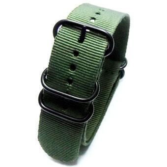 Gracefulvara คนตรวจหญิงกีฬาข้อรัดไนลอน (กองทัพสีเขียว)-18มม