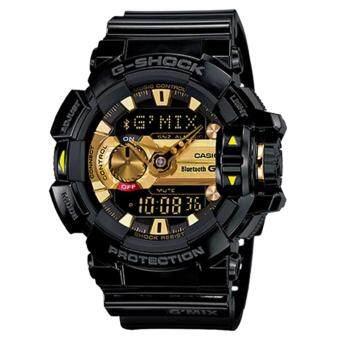 Casio G-Shock นาฬิกาข้อมือผู้ชาย สายเรซิ่น รุ่น G'MIX GBA-400-1A9 - สีดำ/ทอง