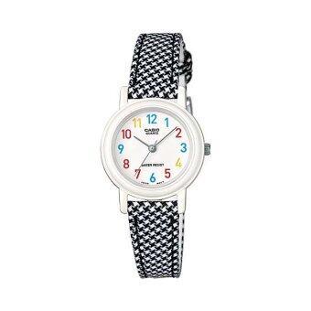 Casio Standard นาฬิกาข้อมือสุภาพสตรี สายเรซิ่น รุ่น LQ-139LB-1BDF - สีดำ/ขาว