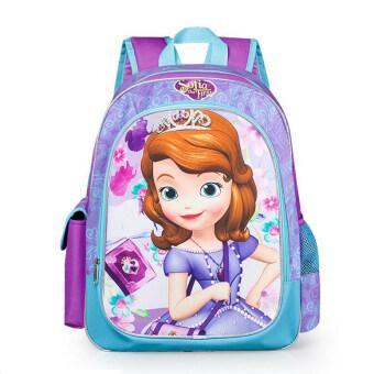 Hely TOP Kids Girls High-capacity Cute Cartoon Backpack Sofia Schoolbag Casual Outdoor Bag (Purple) - intl