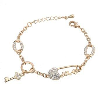 Harga One Zero One New Women Vintage Fashion Bracelet gold plated muti-design factory supply for party gift - Intl