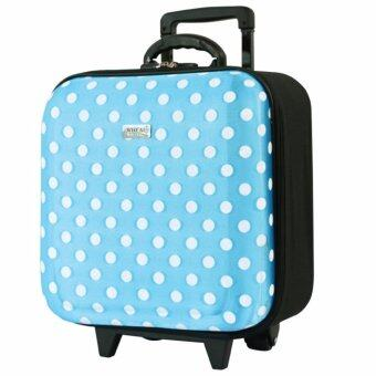 Wheal กระเป๋าเดินทางหน้านูน กระเป๋าล้อลาก 16x16 นิ้ว Code F33516 B-Dot (Sky Blue)