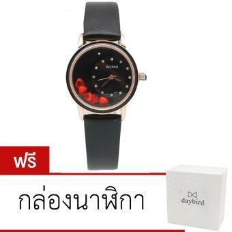 Daybird นาฬิกาข้อมือสายหนัง รุ่น DB-3777-BK-BK (สีดำ)