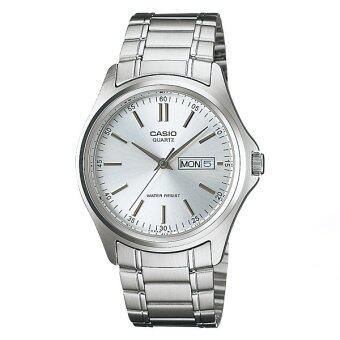 Casio Standard นาฬิกาข้อมือ รุ่น MTP-1239D-7A - สีเงิน/ขาว