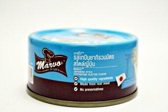 Marvo รสเทปันยากิรวมมิตรสไตล์ญี่ปุ่น อาหารสุนัขชนิดเปียก(กระป๋อง) 80g.x12