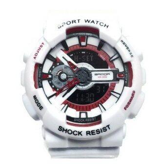 Sanda SP092WH นาฬิกาสปอร์ตสีขาว สายทำจากซิลิโคน รุ่น 299