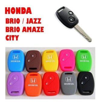 ซิลิโคนกุญแจรถยนต์ HONDA สีดำ