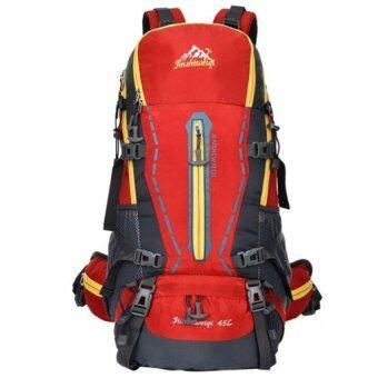 All around กระเป๋าเป้ รุ่น Nylon sport backpack waterproof 45L สี แดง
