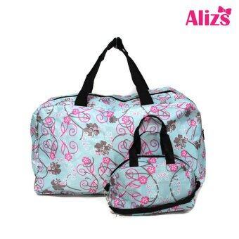 Alizs กระเป๋าเดินทางลายดอกไม้สีขาว