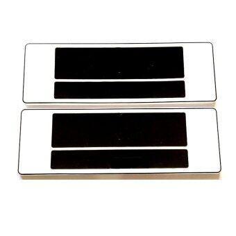ป้ายทะเบียนกันน้ำ ยาว-ยาว license plate 3333 (สีขาว)