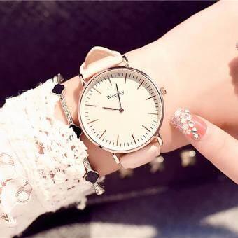 KPshop นาฬิกาผู้หญิงสายหนัง นาฬิกาข้อมือแฟชั่น นาฬิกาสำหรับผู้หญิง รุ่น LC-013 (สีชมพู)
