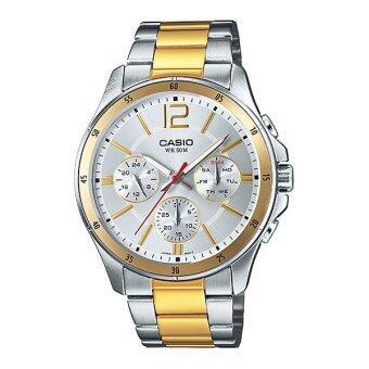 Casio Standard นาฬิกาผู้ชาย สายสเตนเลส รุ่น MTP-1374SG-7AVDF