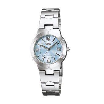 Casio LTP-1241D-2A นาฬิกาข้อมือสำหรับผู้หญิง สาย Stainless
