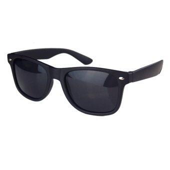 ELENXS ยูวีป้องกันสนามแม่เหล็กแฟชั่นผู้ชายผู้หญิงแว่นตา (สีดำ)