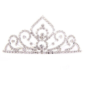 Harga Wedding Bridal Rhinestone Tiara Crown Pageant Prom
